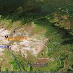 백두산 정계비 주변지리(구글위성)